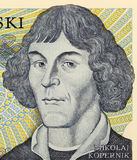 Nicolaus Copernicus. On 1000 zlotych 1982 banknote from Poland. First astronomer to formulate a scientifically-based heliocentric cosmology that displaced the Stock Photos