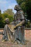 Nicolaus Copernicus Bench in Olsztyn (Poland) Stock Photo