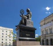 Nicolaus Copernicus - Mikolajowi Kopernikowi. Nicolaus Copernicus statue front of university in Warsaw/Poland - 19 February 1473 – 24 May 1543 was a royalty free stock photo