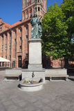 Nicolaus Copernicus Monument in Torun Stock Photography