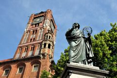 Nicolaus Copernicus monument in Torun, Poland Royalty Free Stock Images
