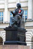 Nicolaus Copernicus monument in Warsaw Stock Images