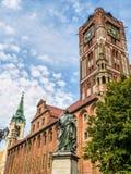 Nicolaus Copernicus-standbeeld Stock Foto