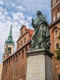 Nicolaus Copernicus-Statue Lizenzfreies Stockfoto