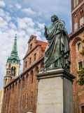 Nicolaus Copernicus statue Royalty Free Stock Photo