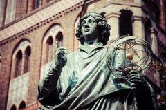 Nicolaus Copernicus statue in Torun, Poland Stock Image