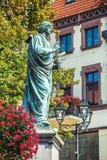 Nicolaus Copernicus statue in Torun, Poland Stock Photos