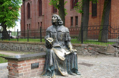Nicolaus Copernicus staty Royaltyfri Fotografi