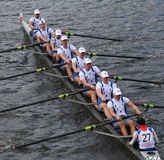 Nicolaus Copernicus University of Poland races in the Head of Charles Regatta Stock Photography