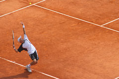Nicolay Davydenko. During the exhibition match at Masters Series of Montecarlo. April 2008 Royalty Free Stock Image