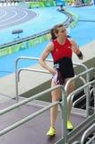 Nicole BÃ ¼ chler, een Zwitserse pool vaulter Stock Afbeelding