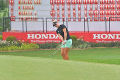 Nicole Broch Larsen dans Honda LPGA Thaïlande 2018 Images stock