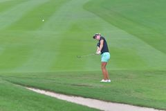Nicole Broch Larsen in Honda LPGA Thailand 2018. Nicole Broch Larsen of Denmark in Honda LPGA Thailand 2018 at Siam Country Club, Old Course on February 24, 2018 Royalty Free Stock Image