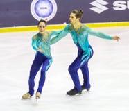 Nicole DELLA MONICA en Matteo GUARISE tijdens het Italiaanse Kampioenschap royalty-vrije stock foto
