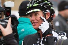 Nicole Duke - Professional Woman Cyclocross Racer Stock Photos
