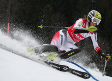 Nicole Hosp Austria Competing in the Audi FIS Alpi Stock Image