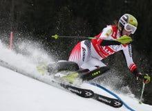 Nicole Hosp Autriche concurrençant dans l'Audi FIS Alpi Image stock