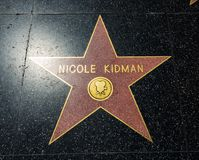 Nicole Kidman-` s Stern, Hollywood-Weg des Ruhmes - 11. August 2017 - Hollywood Boulevard, Los Angeles, Kalifornien, CA Lizenzfreie Stockfotos