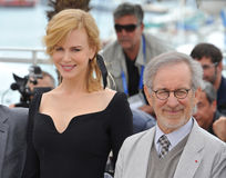 Nicole Kidman,Steven Spielberg Royalty Free Stock Photography
