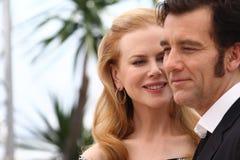 Nicole Kidman und Clive Owen lizenzfreie stockbilder