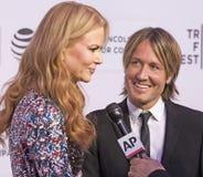 Nicole Kidman y Keith Urban Imágenes de archivo libres de regalías