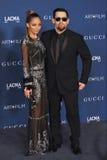 Nicole Richie & Joel Madden royaltyfri fotografi