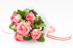 Nicole rose bouquet. Pink nicole rose bouquet with wax flower Royalty Free Stock Photography
