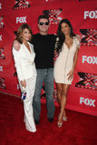 Nicole Scherzinger, Paula Abdul, Simon Cowell Stock Image