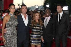 Nicole Scherzinger, Paula Abdul, Simon Cowell, Steve Jones Royalty Free Stock Image