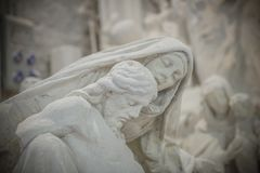 Nicoli-Skulptur-Studios, Carrara, Italien Stockfoto