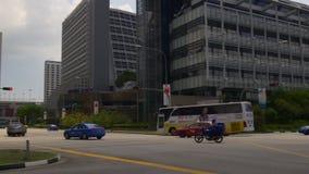 Nicoll hwy sun light traffic crossroad 4k panorama singapore stock video footage