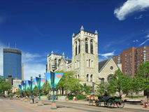 Nicollet Mall street in Minneapolis Royalty Free Stock Images