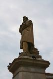 Nicolo Tommaseo statue and doves, Venice, Europe royalty free stock photos