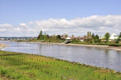 Nicomekl flod på springtime Royaltyfria Foton