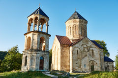 Nicortsminda orthodox Christianity church landmark in Racha region of Georgia Royalty Free Stock Photo