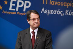 Nicos Anastasiades Zdjęcie Royalty Free