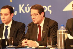Nicos Anastasiades, Candidate for President of Cyprus Royalty Free Stock Photos