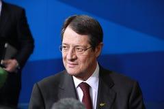 Nicos Anastasiades, concorrente presidencial. Foto de Stock