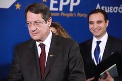 Nicos Anastasiades, Kandidaat voor President van Cyprus Stock Foto