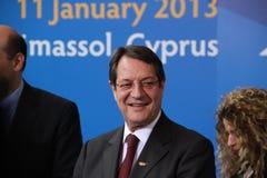 Nicos Anastasiades, Kandidaat voor President van Cyprus Royalty-vrije Stock Foto's