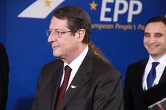 Nicos Anastasiades, kandydat dla prezydenta Cypr Zdjęcia Royalty Free