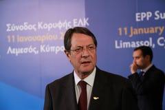 Nicos Anastasiades, kandydat dla prezydenta Cypr Fotografia Stock