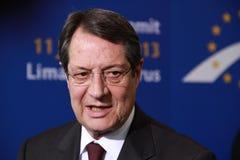 Nicos Anastasiades, Presidentiële Mededinger. Royalty-vrije Stock Foto