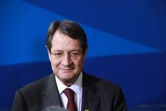 Nicos Anastasiades, Presidentiële Mededinger. Royalty-vrije Stock Foto's