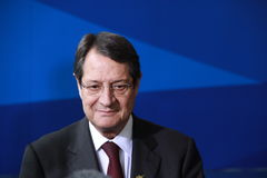 Nicos Anastasiades, Presidential Contender. Nicos Anastasiades, Candidate for President of Cyprus in Presidential Elections and Leader of the DISY Party at the royalty free stock photos