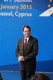 Nicos Anastasiades, rywal prezydenta. Fotografia Stock