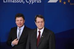 Nicos Anastasiades, rywal prezydenta. Obraz Stock