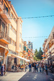 NICOSIA - APRIL 13 : Ledra street, a major shopping thoroughfare Royalty Free Stock Photography