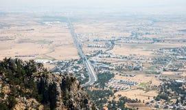 Nicosia area district scenery Cyprus. Royalty Free Stock Photos