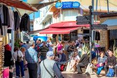 NICOSIA, CHIPRE - 24 DE MARÇO DE 2017: Sinal do turista perto de Lokmaci/Ledr Imagem de Stock Royalty Free